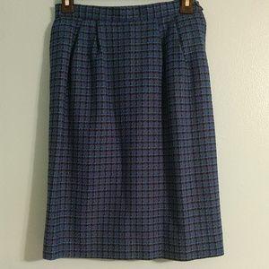 Vintage Pendleton 100% Virgin Wool Lined Skirt 4